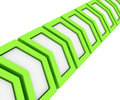 Free Green Arrows In A Line Stock Image - 28607181