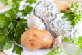 Free Raw Potato Close Up And The Potatoes In Foil Royalty Free Stock Images - 28620729