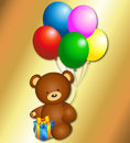 Free Bear With Balloons Stock Images - 28624804