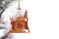 Free Christmas Figurine With Snow Stock Images - 28626674