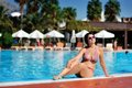 Free The Woman And Pool Royalty Free Stock Images - 28644649