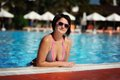Free The Woman And Pool Royalty Free Stock Image - 28644726