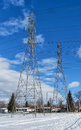 Free Two Electrical Tower Royalty Free Stock Photo - 28651595