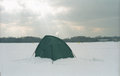 Free Fisherman Winter Tent Royalty Free Stock Photography - 28678247
