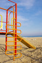 Free Colorful Children Chute On Beach Royalty Free Stock Photography - 28681087