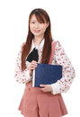 Free Young Asian Woman Holding A Book Royalty Free Stock Photo - 28688575