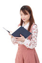 Free Young Asian Woman Reading Book Stock Images - 28688584