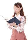 Free Young Asian Woman Reading Book Royalty Free Stock Image - 28688596