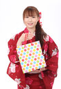 Free Young Asian Woman In Kimono Royalty Free Stock Image - 28705026