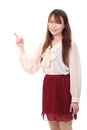Free Young Asian Woman Pointing Stock Photos - 28705333