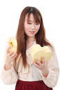 Free Young Asian Woman Opening Present Royalty Free Stock Photography - 28705367