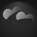 Free Vector Two Glass Hearts. Stock Images - 28740754
