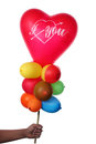 Free Boy Holding Colorful Balloons With Heart Shape Stock Photos - 28789853