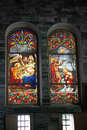 Free Catholic Stained Glass Window From Church. Stock Photography - 28794792