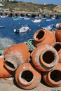 Free Fishing Pots In Terracotta Royalty Free Stock Photography - 2880827