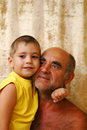 Free Senior Man With A Grandson Stock Image - 2923461