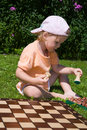Free Girl Playing Chess Stock Photos - 2934623