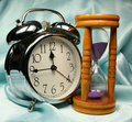 Free Alarm-clock And Sandglass On B Royalty Free Stock Photo - 2938435