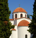 Free Church In Greece Stock Image - 2944521