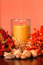 Free A Candle In An Autumn Setting Stock Photos - 3079573
