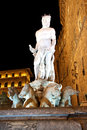 Free Fountain Of Neptune In Florence (Italy) At Night Stock Photo - 32648440