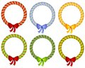 Free Candy Cane Wreath Bow Frames Royalty Free Stock Photos - 3528828