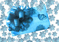 Free Celebration Box With Snowflakes Royalty Free Stock Photo - 3689605