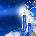 Free Blue Christmas Stock Photo - 3732120