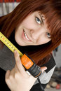Free Girl Using Measuring Tape Stock Photos - 3741563