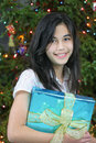 Free Young Teen Girl With Presents Stock Image - 3747561