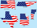 Free Five States With Flags Stock Images - 3780784