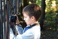 Free Boy Takes A Photograph Royalty Free Stock Photo - 3958895