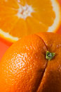 Free One Orange, One Half Orange Royalty Free Stock Image - 3975866