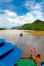 Free River Boat Towing Raft Down River In Asia Stock Images - 4037694