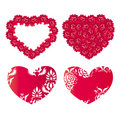 Free Design With Hearts And Flowers Stock Images - 4259304