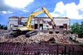 Free Demolition Of Old Building Stock Image - 4319851