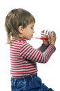 Free Drinking Little Boy Stock Image - 4491331