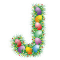 Free Easter Font Letter J Stock Photo - 4518860