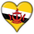 Free Brunei Button Flag Heart Shape Stock Photo - 4521910
