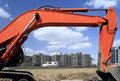Free Construction Site In Beijing. Stock Image - 4602231