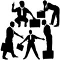 Free Manager With Briefcase - Silhouettes Stock Image - 4606731