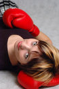 Free Girl In Boxing Gloves Stock Photos - 4753453