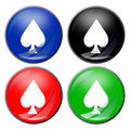 Free Spades Button Royalty Free Stock Images - 5116219