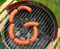 Free Sausages Create G Like GRILL Stock Photography - 5272862