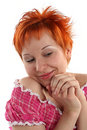 Free Flirting Young Red Haired Woman Stock Photography - 5308012