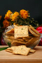 Free Sour Cream And Chive Flavored Crackers Royalty Free Stock Photo - 5397625