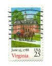 Free Old Postage Stamp From USA 25 Cent Stock Image - 5406331