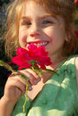 Free Girl With A Red Rose Royalty Free Stock Images - 5422299