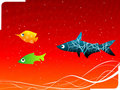 Free Fish With Swirl Royalty Free Stock Photography - 5452517