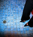 Free Blue Tiles Royalty Free Stock Photos - 5513968